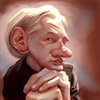 Cartoon: Julian Assange (small) by doodleart tagged julian,assange,caricature