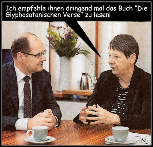 Cartoon: buchtip (medium) by Andreas Prüstel tagged agrarminister,schmidt,glyphosat,umweltministerin,hendricks,cartoon,collage,andreas,pruestel