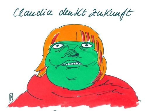 Cartoon: claudia roth (medium) by Andreas Prüstel tagged spd,grüne,roth,claudia,koalition,bundestagswahlen,cartoon,karikatur,andreas,pruestel,claudia,roth,grüne,spd,koalition,bundestagswahlen,cartoon,karikatur,andreas,pruestel