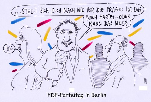 Cartoon: fdp parteitag (medium) by Andreas Prüstel tagged fdp,parteitag,berlin,berichterstattung,medien,tv,cartoon,karikatur,andreas,pruestel,fdp,parteitag,berlin,berichterstattung,medien,tv,cartoon,karikatur,andreas,pruestel