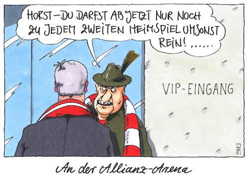 Cartoon: heimspiel (medium) by Andreas Prüstel tagged bayern,csu,horst,seehofer,bundestagswahl,stimmenverluste,parteivorsitz,rücktrittsvorderungen,bedeutungsverlust,cc,münchen,allianz,arena,cartoon,karikatur,andreas,pruestel,bayern,csu,horst,seehofer,bundestagswahl,stimmenverluste,parteivorsitz,rücktrittsvorderungen,bedeutungsverlust,cc,münchen,allianz,arena,cartoon,karikatur,andreas,pruestel