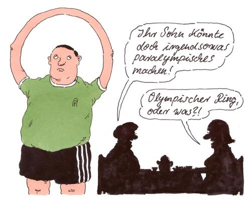 Cartoon: paralympisch (medium) by Andreas Prüstel tagged paralympic,behindertensport,cartoon,karikatur,andreas,pruestel,paralympic,behindertensport,cartoon,karikatur,andreas,pruestel