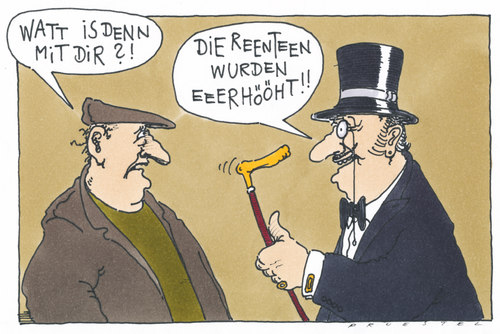 Cartoon: rentner (medium) by Andreas Prüstel tagged andreas,karikatur,cartoon,senioren,rente,rentenerhöhung,pruestel,rentner,rentner,rentenerhöhung,rente,senioren,cartoon,karikatur,andreas,pruestel