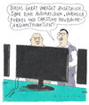 Cartoon: abschaltung (small) by Andreas Prüstel tagged tv,verkäufer,sonderfunktion,veronicaferres,christineneubauer
