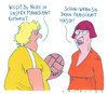 Cartoon: damensport (small) by Andreas Prüstel tagged frauen,frauensport,mannschft,emanzipation,feminismus,ballsport