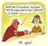 Cartoon: eh egal (small) by Andreas Prüstel tagged blind,blinder,blindenbinde,anbaggern,schleimer