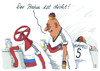 Cartoon: gashahn (small) by Andreas Prüstel tagged russland,ukraine,gaslieferungen,alkohol,cartoon,karikatur,andreas,pruestel,energie,vorkasse,fußballweltmeisterschaft,fans,deutschland,eu,suff