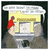 Cartoon: mütze (small) by Andreas Prüstel tagged bankraub,banküberfall,skimaske,skimütze