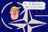Cartoon: natotrump (small) by Andreas Prüstel tagged nato,jubiläum,usa,trump,deutschland,rüstungsetat,bratwürste,cartoon,karikatur,andreas,pruestel