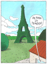 Cartoon: o.t. (small) by Andreas Prüstel tagged paris eifelturm garten grundstück
