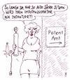 Cartoon: patentamt (small) by Andreas Prüstel tagged patent,patentamt,potentiometer,impotenz,impotenziometer,cartoon,karikatur,andreas,pruestel