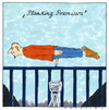Cartoon: planking (small) by Andreas Prüstel tagged planking,eventsport,funsport,internet
