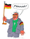 Cartoon: schland (small) by Andreas Prüstel tagged fußballeuropameisterschaft,fans,taumel,nationalfarben,nationalstolz,blindheit,blinder,blindenbinde
