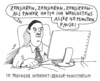 Cartoon: stress (small) by Andreas Prüstel tagged china,peking,lehrer,zensor,internetzensur
