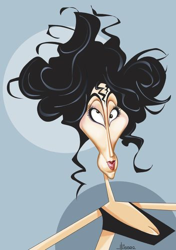 Cartoon: Cher (medium) by Ulisses-araujo tagged cher