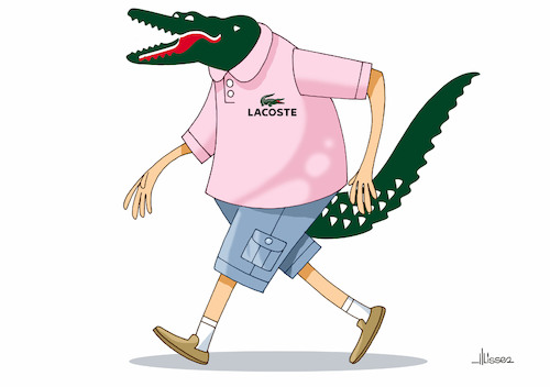 Cartoon: lacoste (medium) by Ulisses-araujo tagged lacoste