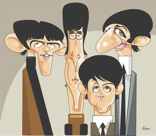 Cartoon: The Beatles (medium) by Ulisses-araujo tagged the,beatles