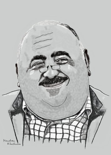 Cartoon: bahram arif bagirzade caricature (medium) by handren khoshnaw tagged handren,khoshnaw,bahram,arif,bagirzade,caricature