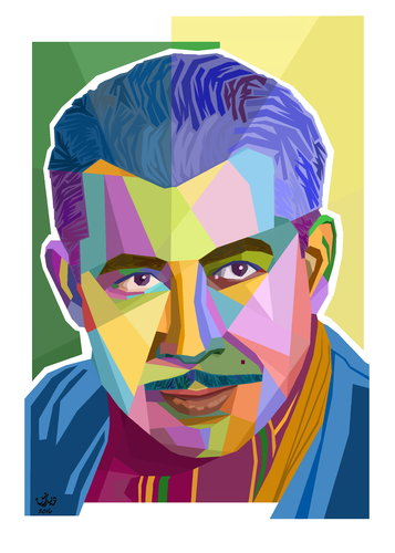 Cartoon: Pirbal Mahmood (medium) by handren khoshnaw tagged handren,khoshnaw,kurdish,poet