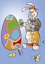 Cartoon: Osterhase (small) by astaltoons tagged ostern,osterhase