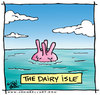 Cartoon: The Dairy Isle (small) by JohnBellArt tagged dairy,isle,udder,island,pun,water,ocean,sea,teats