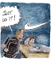 Cartoon: Just do it (small) by Piet_cartoonist tagged nike,children,work,just,do,it