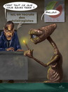 Cartoon: E.T. unemployed (small) by FredCoince tagged et,unemployed,humor