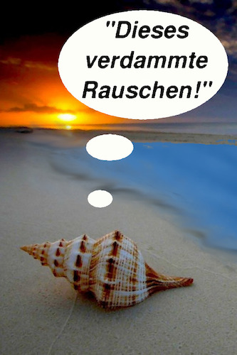 Cartoon: am meer (medium) by ab tagged natur,meer,wasser,wellen,strand,muschel,geräusche