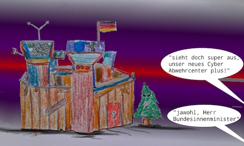 Cartoon: horstis new home (medium) by ab tagged cyber,abwehr,hacker,angriff,seehofer,innenminister,digital