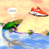 Cartoon: evolution (small) by ab tagged fish,sport,shoe