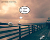 Cartoon: herbst.. (small) by ab tagged möwe