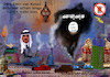 Cartoon: naher osten (small) by ab tagged katar,emir,islam,muslim,rauch,gaga,is