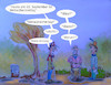 Cartoon: remember (small) by ab tagged alter,alzheimer,erinnerung,vergessen,herbst