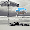 Cartoon: Urlaub (small) by ab tagged meer,urlaub,strand,sand,frau