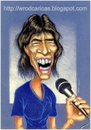 Cartoon: Mick Jagger (small) by WROD tagged mick jagger the rolling stones
