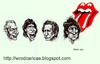 Cartoon: The Rolling Stones (small) by WROD tagged the rolling stones