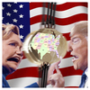 Cartoon: Swing States (small) by Night Owl tagged hillary,clinton,donald,trump,usa,us,election,votes,wahl,2016,united,states,president,democratic,republican,presidential,candidates