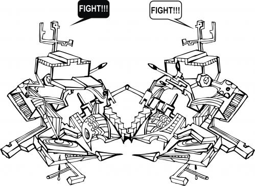 Cartoon: fight (medium) by andres fv tagged fight