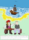 Cartoon: Pirate Socialization (small) by paparazziarts tagged piracy,socialization,pirate