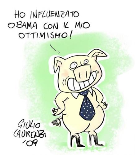 Cartoon: Influenza colore (medium) by Giulio Laurenzi tagged politics