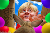 Cartoon: Easter Lockdown (small) by Bart van Leeuwen tagged angela merkel easter lockdown bunny crona pandemic covid19