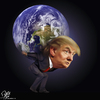 Cartoon: Heavy Weight (small) by Bart van Leeuwen tagged trump,president,atlas,responsibility