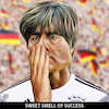 Cartoon: Sweet smell of success (small) by Bart van Leeuwen tagged jogi,low,deuchland,weltmeister,wk2018,russia,mannschaft,germany