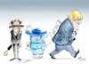 Cartoon: Der Lahmleger (small) by Paolo Calleri tagged eu,uk,gb,vereinigtes,koenigreich,premier,premierminister,boris,johnson,zwangspause,parlament,pause,parlamentspause,brexit,austritt,gemeinschaft,union,europa,queen,elizabeth,no,deal,abkommen,karikatur,cartoon,paolo,calleri