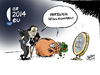 Cartoon: Prosit Neujahr! (small) by Paolo Calleri tagged eu,ratspräsidentschaft,2014,griechenland,premierminister,antonis,samaras,euro,lettland,währung,krise,finanzkrise,schulden,schuldenkrise,karikatur,cartoon,paolo,calleri