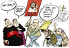 Cartoon: Revolutionär (small) by Paolo Calleri tagged vatikan,papst,franziskus,bergoglio,schrift,evangelii,gaudium,reformen,kirche,katholizismus,christentum,glaube,armut,reichtum,kapitalismus,kapitalismuskritik,tradition,selbstkritik,evangelium,eucharistie,notleidende,karikatur,cartoon,paolo,calleri
