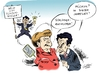 Cartoon: Tinker Bell (small) by Paolo Calleri tagged cdu,fdp,liberale,koalition,bundeskanzlerin,merkel,philipp,rösler,deutschland,frankreich,sarkozy,finanztransaktionssteuer,börsensteuer,steuer,eurozone,schuldenkrise,eurokrise