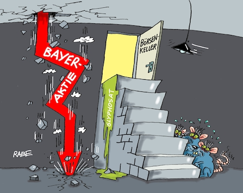 Cartoon: Bayerkeller (medium) by RABE tagged bayer,aktie,glyphosat,börse,absturz,keller,ratten,abwärts,usa,klage,rabe,cartoon,karikatur,pressezeichnung,farbcartoon,tagescartoon,treppe,pfeil,frankfürt,euro,dow,jones,bayer,aktie,glyphosat,börse,absturz,keller,ratten,abwärts,usa,klage,rabe,cartoon,karikatur,pressezeichnung,farbcartoon,tagescartoon,treppe,pfeil,frankfürt,euro,dow,jones