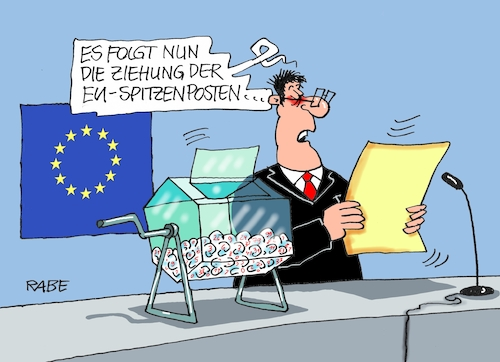 Cartoon: EU Lostrommel (medium) by RABE tagged europawahl,mai,brüssel,eu,rabe,ralf,böhme,cartoon,karikatur,pressezeichnung,farbcartoon,tagescartoon,pkw,maut,eugh,urteil,verkehrsminister,scheuer,csu,prestigeprojekt,spitzenämter,vergaabe,postengeschachere,geschacheremarathon,sondergipfel,lösungsversuche,spitzenposten,juncker,kommissionspräsident,lotto,ziehung,los,lostrommel,europawahl,mai,brüssel,eu,rabe,ralf,böhme,cartoon,karikatur,pressezeichnung,farbcartoon,tagescartoon,pkw,maut,eugh,urteil,verkehrsminister,scheuer,csu,prestigeprojekt,spitzenämter,vergaabe,postengeschachere,geschacheremarathon,sondergipfel,lösungsversuche,spitzenposten,juncker,kommissionspräsident,lotto,ziehung,los,lostrommel