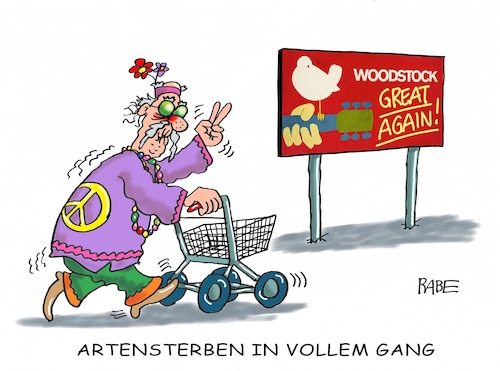Cartoon: Woodstock II (medium) by RABE tagged klimawandel,umwelt,umweltministerin,schulze,sp,klimapreis,heizung,auto,rabe,ralf,böhme,cartoon,karikatur,pressezeichnung,farbcartoon,tagescartoon,brücke,bettler,verkehr,klimaprämie,friday,for,future,arten,artensterben,wälder,woodstook,usa,festival,rock,pop,beat,open,air,konzert,who,ccr,jimi,hendrixs,hippies,flower,power,love,peace,rentner,klimawandel,umwelt,umweltministerin,schulze,sp,klimapreis,heizung,auto,rabe,ralf,böhme,cartoon,karikatur,pressezeichnung,farbcartoon,tagescartoon,brücke,bettler,verkehr,klimaprämie,friday,for,future,arten,artensterben,wälder,woodstook,usa,festival,rock,pop,beat,open,air,konzert,who,ccr,jimi,hendrixs,hippies,flower,power,love,peace,rentner